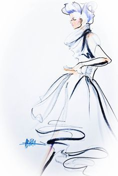 Fashion Illustrations - Collection of fashion illustrations from around the web from rough croquis to designer skecthes. Be inspired, study techniques or submit your own fashion art. Illustration Mode, Fashion Illustration Sketches, Fashion Sketches, Fashion Drawings, Mode Collage, Fashion Artwork, Photocollage, Copic Markers, Designs To Draw