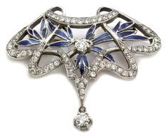 Nouveau 1910 Arctic Collection Ensueno Enamel Diamond Gold Brooch https://www.1stdibs.com/jewelry/brooches/brooches/nouveau-1910-arctic-collection-ensueno-enamel-diamond-gold-brooch-pendant/id-j_2518113/Pendant