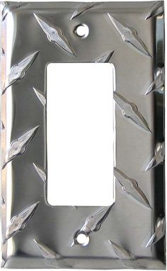 polished diamond plate tread light switch plates, outlet covers, wallplates