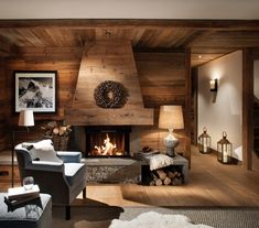 Cosy Val d'isere Chalet Design to Get you Ready for Ski Season We love a peek at cosy chalet design at this time of year so we asked Nicky Dobree to show us one of her favourites. Explore this Val d'isere chalet. Chalet Design, Ski Chalet Decor, Chalet Interior, Chalet Style, Lodge Style, Design Design, Cabin Homes, Log Homes, Comfortable Living Rooms