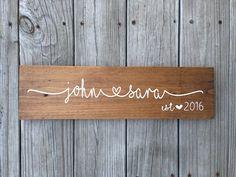 Custom Name Sign Personalized Name Sign Wedding by BallyandLis