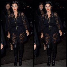 """""""Thanks @krisjenner I stole your robe and wore it last night, who knew you had such fancy sleepwear?! #NYC"""""""