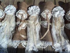 Handmade Burlap Vintage Lace Valance Shabby Chic Curtain Nursery Decor tmyers #ShabbyChic
