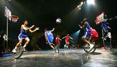 Unicycle Basketball Troupe - Basketball Unicyclists | www.contrabandevents.com