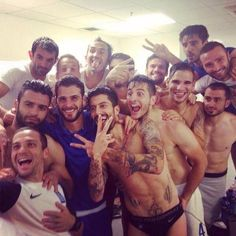 The Greece national soccer team's sexy World Cup selfie  #WorldCup