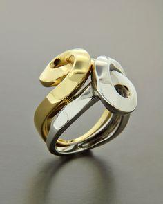 Δαχτυλίδι χρυσό & λευκόχρυσο Κ18