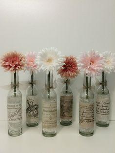 Wedding VaseWedding DecorFrench Country by beachbabyblues on Etsy, $6.00