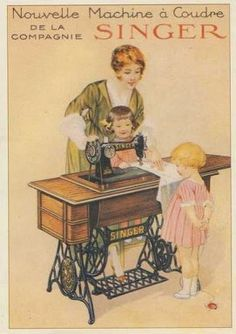First-Rate Sewing Machine From Fabric To Clothing In Seconds Ideas. Top-notch Sewing Machine From Fabric To Clothing In Seconds Ideas. Vintage Ephemera, Vintage Cards, Vintage Postcards, Vintage Images, Antique Sewing Machines, Vintage Sewing Patterns, Etiquette Vintage, Foto Transfer, Sewing Cards