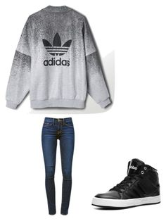 by melodyleighmitchell on Polyvore featuring polyvore, fashion, style, Frame Denim and adidas