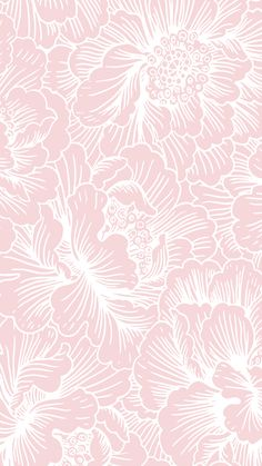 Image for CandyShell Inked by Speck Wallpaper - FreshFloral Pink/River Blue