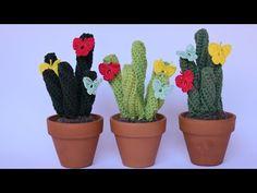 CACTUS RETORCIDO CON MARIPOSAS DE GANCHILLO - YouTube Cute Crochet, Knit Crochet, Cactus Plants, Deco, Free Pattern, Planter Pots, Crochet Patterns, Arts And Crafts, Embroidery