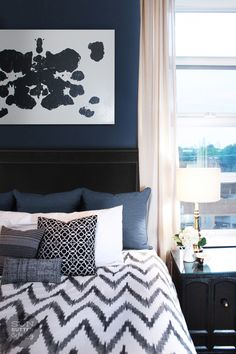 marvellous dark blue bedroom | 57 Best Navy Blue Bedrooms images in 2019 | Navy blue ...