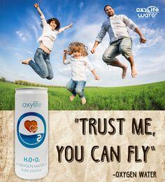 Fly with oxygen water Oxylife. Kyslikova voda Oxylife. Smart water