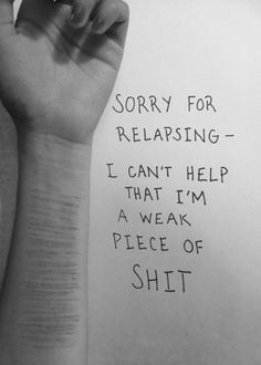 Image result for self harm relapse quotes | Quotes<3 | Pinterest ...