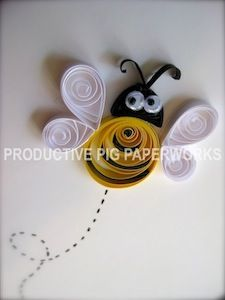 Googly-Eyed Simple Bee Quilling