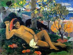 by Paul Gauguin in oil on canvas, done in . Find a fine art print of this Paul Gauguin painting. Paul Gauguin, Gauguin Tahiti, List Of Paintings, Oil Paintings, Landscape Paintings, Artemisia Gentileschi, Van Gogh, Peter Paul Rubens, Impressionist Artists