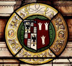 Heraldic glass in the church of St. Saphorin, at Lavaux, Vaud, Switzerland
