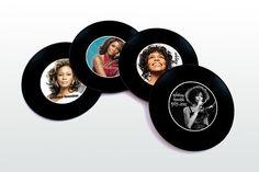 Whitney Houston Magnetic round Coasters Including by elcomdesign