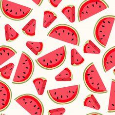 Seamless pattern with fresh watermelon. Summer Desktop Backgrounds, Cute Wallpaper Backgrounds, Cute Wallpapers, Summer Backrounds, Fresco, Watermelon Vector, Watermelon Patch, Watermelon Wallpaper, Cute Wallpaper For Phone