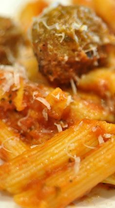One Pot Penne & Meatballs (in the Instant Pot)