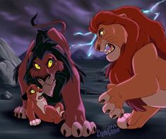 Scar and Mufasa Lion King Story, Lion King Fan Art, Lion Art, Lion King Kovu, Scar Lion King, Images Roi Lion, Anime Lion, Lion King Drawings, Lion King Pictures