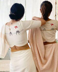 Blouse Back Neck Designs, Cotton Saree Blouse Designs, Stylish Blouse Design, Fancy Blouse Designs, Latest Saree Blouse Designs, Sari Design, Designer Kurtis, Designer Sarees, Chiffon Saree