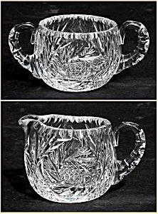 Kraft 1950: Cut glass sugar and creamer set (Image1)