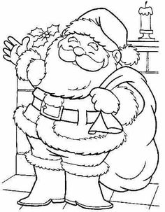 Christmas Coloring Pages - Santa Claus Online Coloring Pages, Cool Coloring Pages, Free Coloring, Coloring Pages For Kids, Coloring Books, Christmas Ornament Coloring Page, Printable Christmas Coloring Pages, Christmas Printables, Christmas Colors