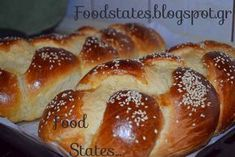 Greek Sweets, Greek Desserts, Greek Recipes, Greek Easter Bread, Greek Cake, Tasty, Yummy Food, Yeast Bread, Hot Dog Buns