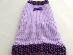 Lilac and Purple puppy Sweater cat jumper Hand knitted by CUTIEDOG
