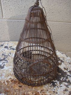 Vintage Wire Bird Cage by AspenMountainVintage