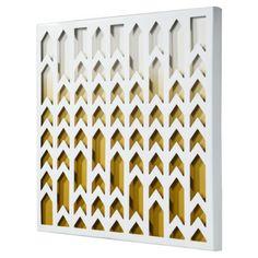 "Art for the office Chevron Ombre Tile (14x14"")"