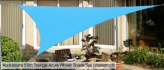 Enjoy our huge selection of top quality garden sail shades - as seen on Alan Titchmarsh's Love Your Garden! Backyard Shade, Backyard Canopy, Patio Shade, Pergola Diy, Pergola Swing, Deck With Pergola, Garden Sail, Shade Sail Installation, Design Cour