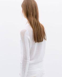 Image 5 of SWEATER WITH OPEN-WORK DETAIL from Zara
