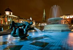 london trafalgar square night - Google Search