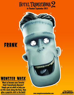 Step out in style… or at least dressed like Frank with this last-minute Halloween costume! | Hotel Transylvania 2