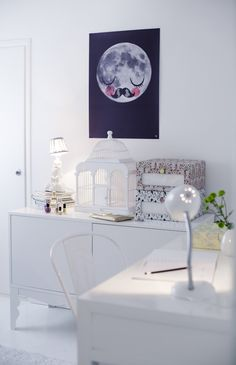 kids room.. LOVE!! And the popular moon poster again :)