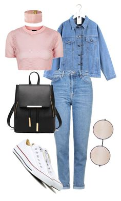 """Untitled #39"" by missophiehopper on Polyvore featuring Quintess, Topshop, Converse and Quay"
