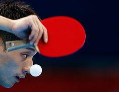 London 2012 Table Tennis: China's Zhang Jike serves to Belarus' Vladimir Samsonov Table Tennis