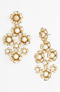 Tory Burch 'Katie' Floral Chandelier Earrings | Nordstrom