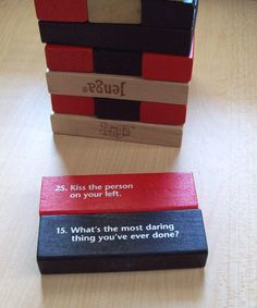 Vintage Jenga gametruth or dare edition by sher202020 on Etsy, $6.99