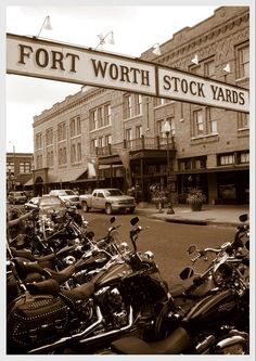 Stock Yards, Fort Worth, TX.