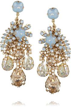 Bijoux Heart Forget Me Not gold-plated Swarovski crystal earrings NET-A-PORTER.COM