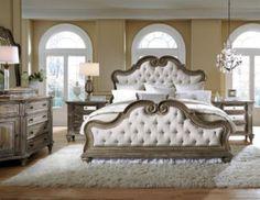 Pulaski Arabella King Bed/Dresser/Mirror/Nightstand