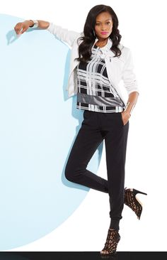 NY&Co new Jogger style is a must for an instant wardrobe refresh....see Holly!!!!