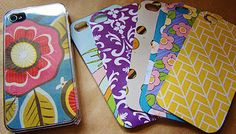 scrapbook iphone case. absolutely love! now I gotta find a clear case..