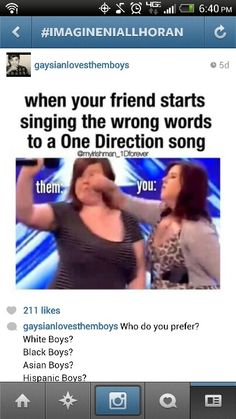 "Amber who does this remind you of? ""Omg I'm such a ONE DIRECTIONER"" shoot me please."