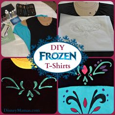 These DIY #Frozen T-Shirts are easy to make and really cute!