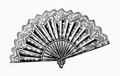 Illustrazioni Vintage in Bianco e Nero: Ventagli - Vintage Illustrations in Black and White: Fans