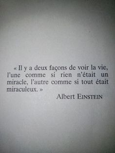 Citation d'Albert Einstein sur la vie